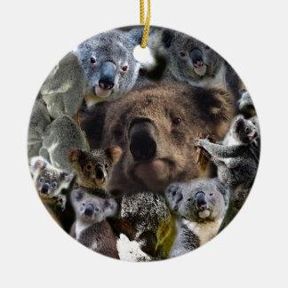 Ornement Rond En Céramique Koala heureux