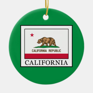 Ornement Rond En Céramique La Californie