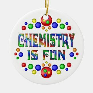 Ornement Rond En Céramique La chimie est amusement