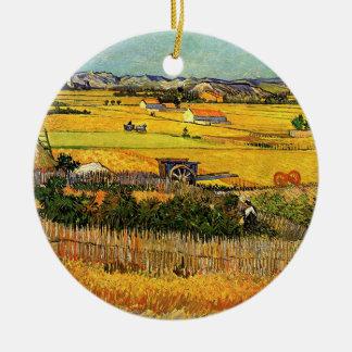 Ornement Rond En Céramique La Crau, Montmajour, beaux-arts de récolte de Van