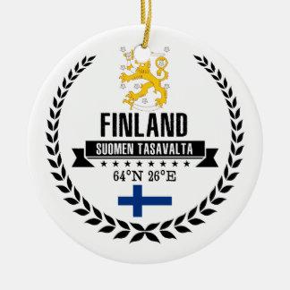 Ornement Rond En Céramique La Finlande