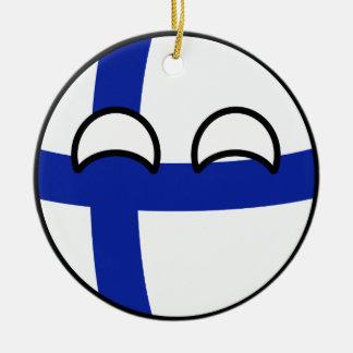 Ornement Rond En Céramique La Finlande Geeky tendante drôle Countryball