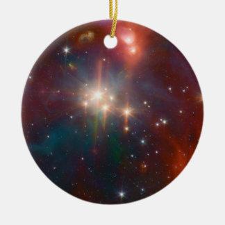 Ornement Rond En Céramique La NASA infrarouge de groupe d'étoile de Coronet