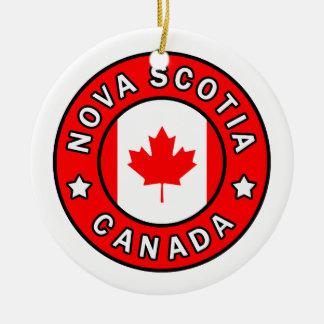Ornement Rond En Céramique La Nouvelle-Écosse Canada