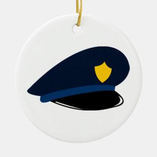 Ornement Rond En Céramique La police couvre