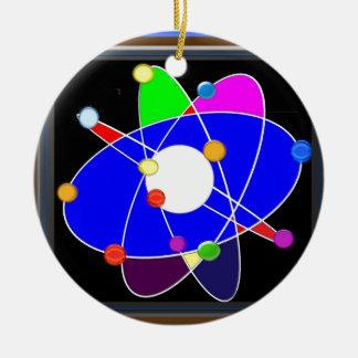 Ornement Rond En Céramique La science d'ATOME explorent l'ÉCOLE de recherches