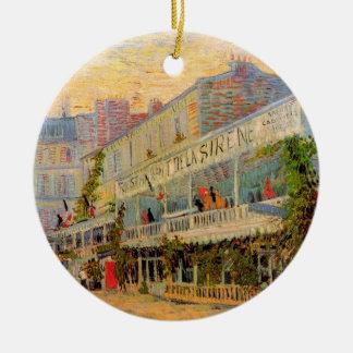 Ornement Rond En Céramique La Sirene, Asnieres, beaux-arts de restaurant de