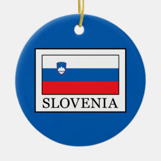 Ornement Rond En Céramique La Slovénie