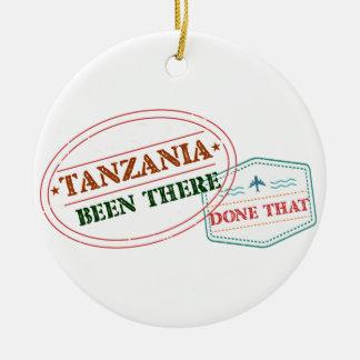 Ornement Rond En Céramique La Tanzanie là fait cela