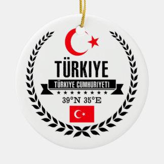 Ornement Rond En Céramique La Turquie