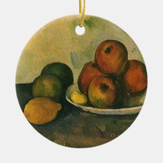 Ornement Rond En Céramique La vie toujours avec des pommes par Paul Cezanne