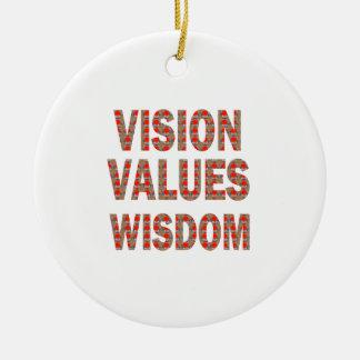 Ornement Rond En Céramique La VISION évalue la sagesse : CADEAUX À BAS PRIX