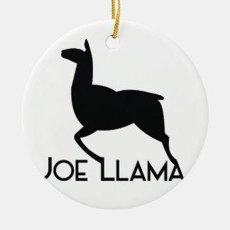 Ornement Rond En Céramique Lama de Joe