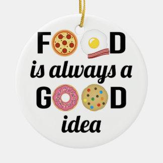 Ornement Rond En Céramique L'amant de nourriture