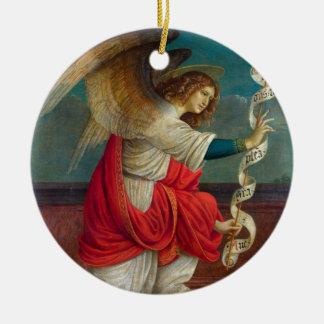 Ornement Rond En Céramique L'ange Gabriel - Gaudenzio Ferrari