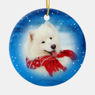 Ornement Rond En Céramique L'animal familier personnalisé ornemente Noël de