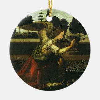 Ornement Rond En Céramique L'annonce par Leonardo da Vinci