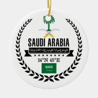 Ornement Rond En Céramique L'Arabie Saoudite