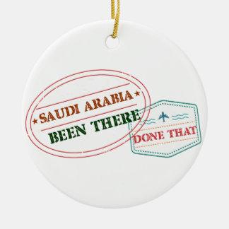 Ornement Rond En Céramique L'Arabie Saoudite là fait cela