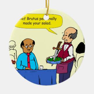Ornement Rond En Céramique Le Brutus de 904 chefs a fait la bande dessinée de
