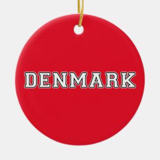 Ornement Rond En Céramique Le Danemark