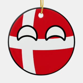 Ornement Rond En Céramique Le Danemark Geeky tendant drôle Countryball