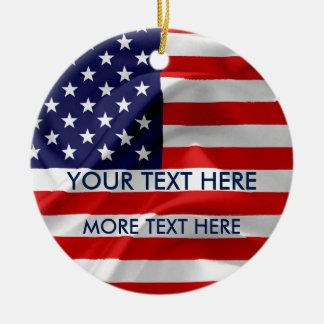 Ornement Rond En Céramique Le drapeau des Etats-Unis d'Amérique