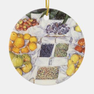 Ornement Rond En Céramique Le fruit se tiennent prêt Gustave Caillebotte, art