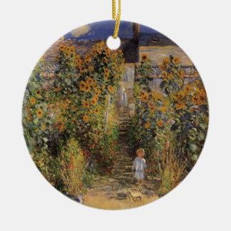 Ornement Rond En Céramique Le jardin de l'artiste chez Vetheuil par Claude