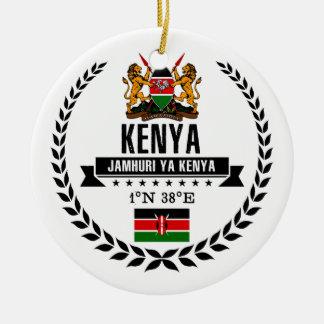Ornement Rond En Céramique Le Kenya