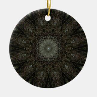Ornement Rond En Céramique Le mandala carré d'horloge d'heures