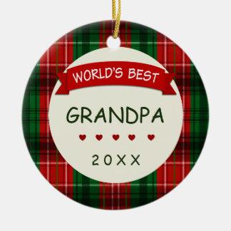 Ornement Rond En Céramique Le meilleur cadeau du grand-papa du monde (tout