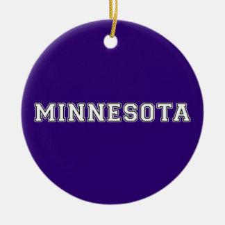 Ornement Rond En Céramique Le Minnesota