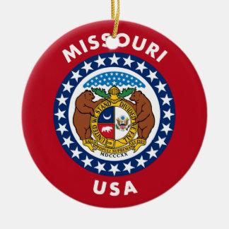 Ornement Rond En Céramique Le Missouri Etats-Unis
