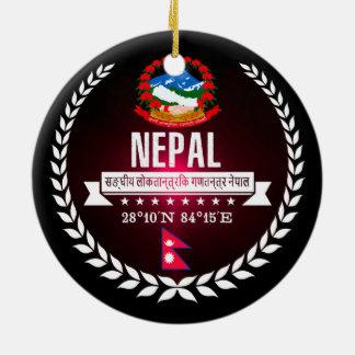 Ornement Rond En Céramique Le Népal