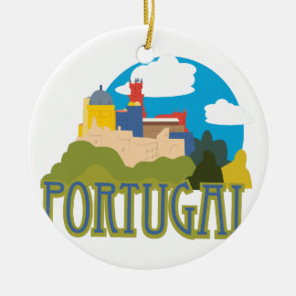 Ornement Rond En Céramique Le Portugal