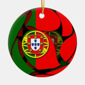 Ornement Rond En Céramique Le Portugal #1