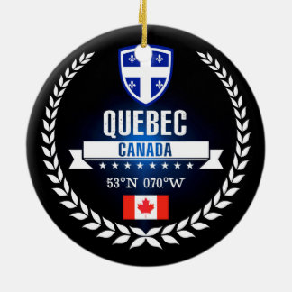 Ornement Rond En Céramique Le Québec