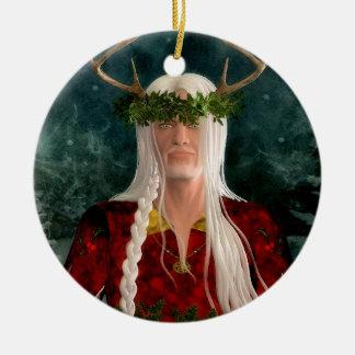 Ornement Rond En Céramique Le Roi Ornament de houx