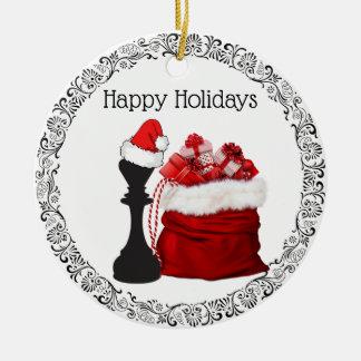 Ornement Rond En Céramique Le Roi personnalisé Père Noël Holiday Christmas