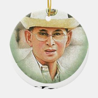 Ornement Rond En Céramique Le Roi thaïlandais Bhumibol Adulyadej -