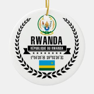 Ornement Rond En Céramique Le Rwanda