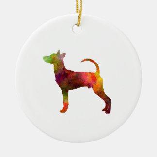 Ornement Rond En Céramique Le Taiwan Dog in watercolor