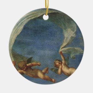 Ornement Rond En Céramique Les anges détaillent d'Adonis ont mené par des