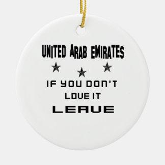 Ornement Rond En Céramique Les Emirats Arabes Unis si vous ne l'aimez pas,
