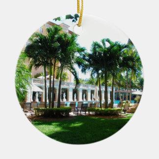 Ornement Rond En Céramique L'espace piscine de Miami Biltmore