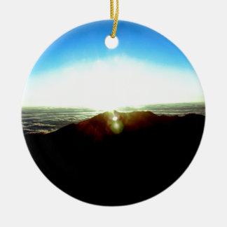 Ornement Rond En Céramique Lever de soleil nucléaire