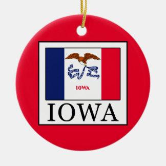 Ornement Rond En Céramique L'Iowa