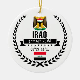 Ornement Rond En Céramique L'Irak