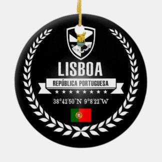 Ornement Rond En Céramique Lisbonne